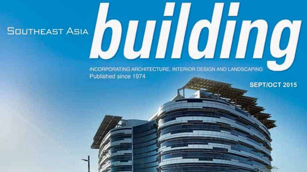 Southeast Asia Building Magazine - September-October 2015 issue cover – features flexible sprinklers in fire protection systems article by Victaulic's John Stempo