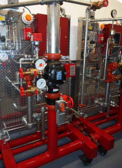 FireLock NXT™ Dry Check Valve setup for training sessions.