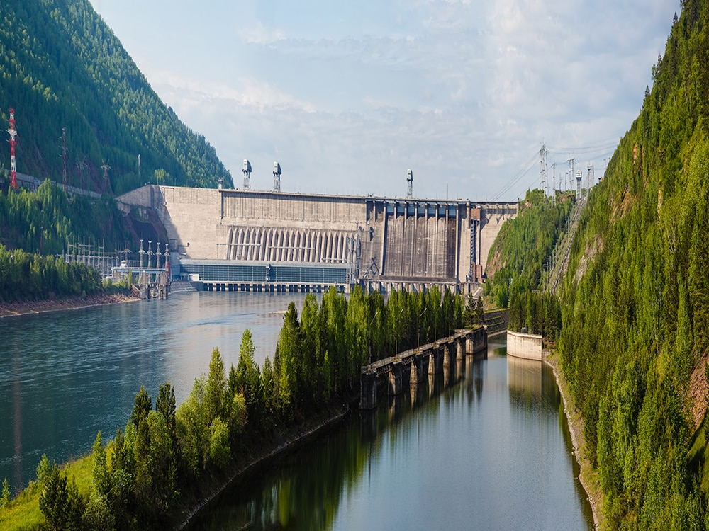 Hydroelectric Power Station on Yenisei River in Russia - Victaulic offers pipe joining solutions for hydropower plants