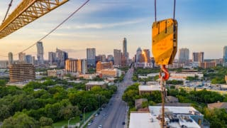 Austin Aerial Skyline- Victaulic Cooling Tower Project