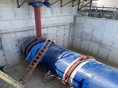 Northeast Water Purification Plant joined vault pipeline
