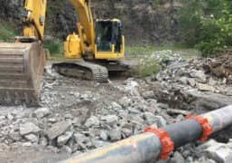 Montreal, Canada repairs a 20-inch buried HDPE piping system that carries wastewater to the municipal sewage system with Victaulic couplings 2017